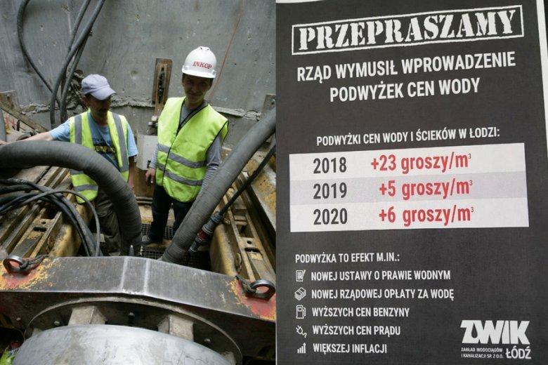 W sumie cena wody w Łodzi wzrośnie w ciągu trzech lat o jedną trzecią. Miejskie przedsiębiorstwo ZWIK wskazuje winnego - rząd PiS.