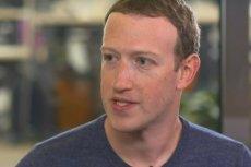 Mark Zuckerberg osobiście zwraca się do czytelników gazet w USA i Wielkiej Brytanii.
