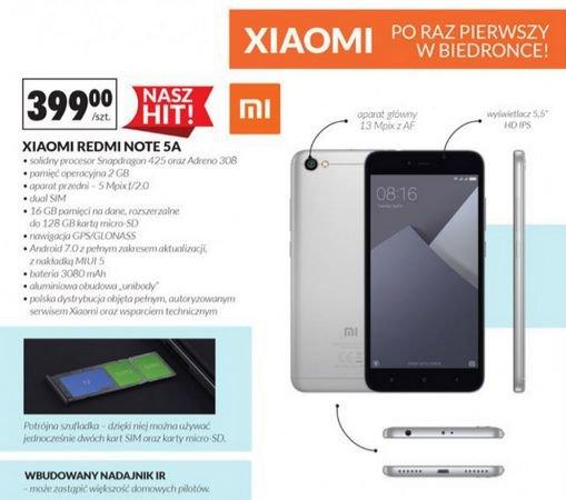 W Biedronce już wkrótce dostępny będzie smartfon Xiaomi.