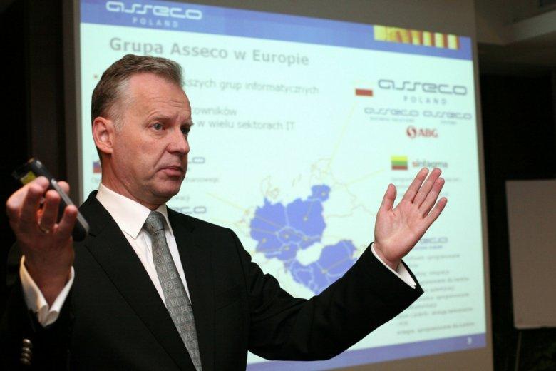 Adam Góral, prezes Asseco - o nagrodzie dla firm płacących podatki nad Wisłą usłyszał: nagroda frajera.