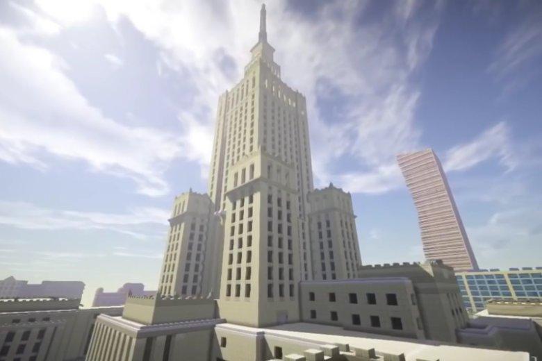 Odnowiony PKiN jest stałym elementem futurystycznej wizji Warszawy.