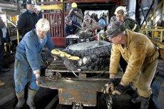 Górnicy pracujący przy likwidacji zamkniętej kopalni