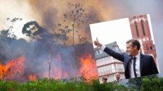 """Emmanuel Macron zaproponował 20 mln dol. od państw G7 na gaszenie pożarów w Puszczy Amazońskiej. """"To śmieszne pieniądze"""" - twierdzi warszawski aktywista"""