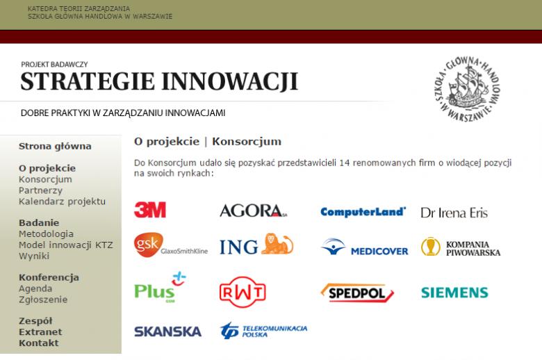 """Konsorcjum badawcze """"Strategie Innowacji"""", rok 2003"""