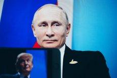 Spotkanie Władimira Putina z Donaldem Trumpem. Wymowne, bo administracja Trumpa kolejny raz wskazała palcem na Rosję, oskarżając o finansowanie cyberataków