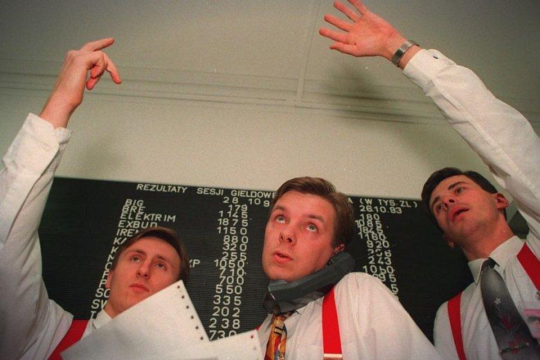 Pionierzy kapitalizmu. Maklerzy na GPW w 1993 roku.