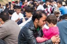Imigranci na granicy Grecji i Macedonii.