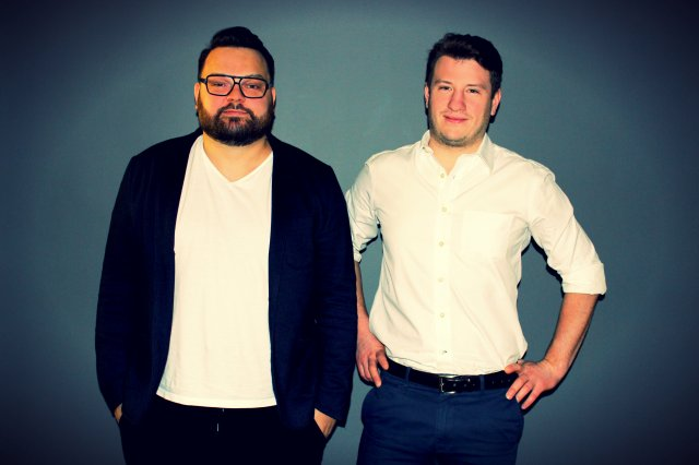 Karol Wróbel - partner channel marketing manager w Microsoft oraz Maks Stempniewicz, startup lead.