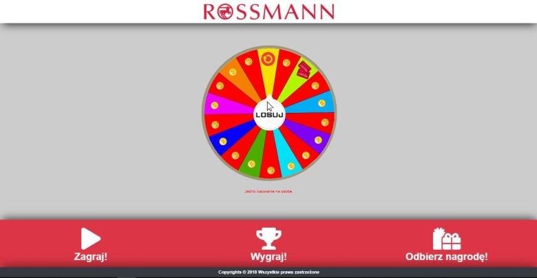 Twórcy strony nie boją się korzystać z logo Rossmanna