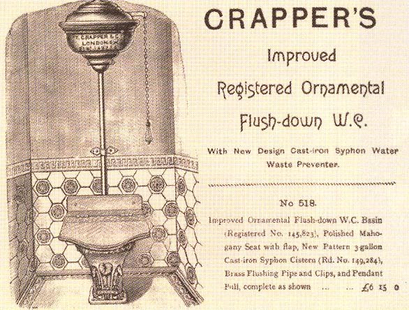 Reklama toalety Thomasa Crappera.
