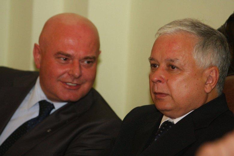 Odchodzący prezydent Nowego Sącza Ryszard Nowak z Lechem Kaczyńskim, posłem z nowosądecczyzny w latach 1999-2002.