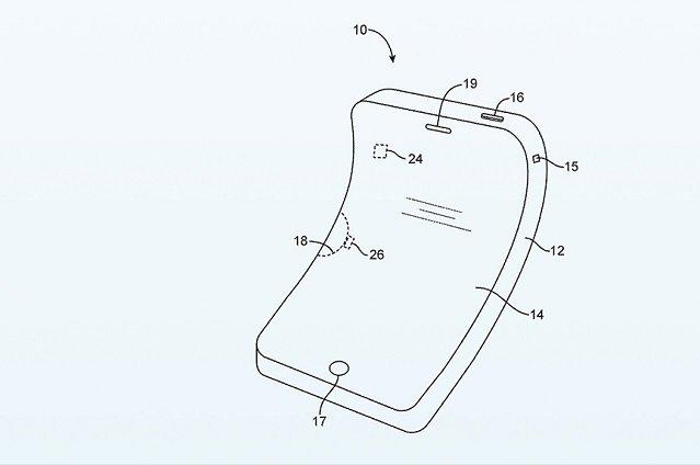 Opatentowany model zginalnego iPhone'a.