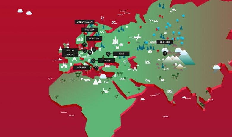 Miasta, w których Startup Safary już się odbyło lub niebawem się odbędzie.