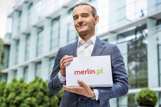 Łukasz Szczepański, prezes firmy zarządzającej sklepem Merlin.pl