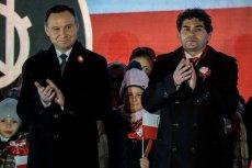 Prezydent RP Andrzej Duda i prezydent Stalowej Woli Lucjusz Nadbereżny.