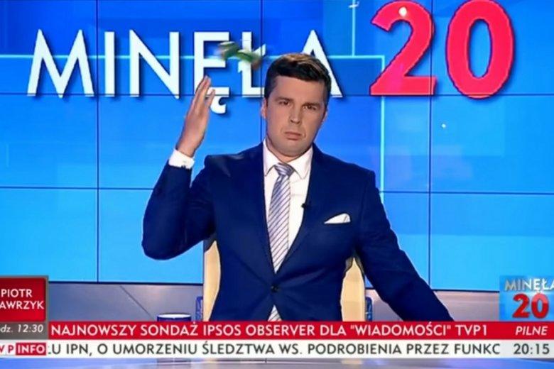 Dziennikarz TVP na wizji wylał i wyrzucił puszkę produkowanego przez Maspex napoju.