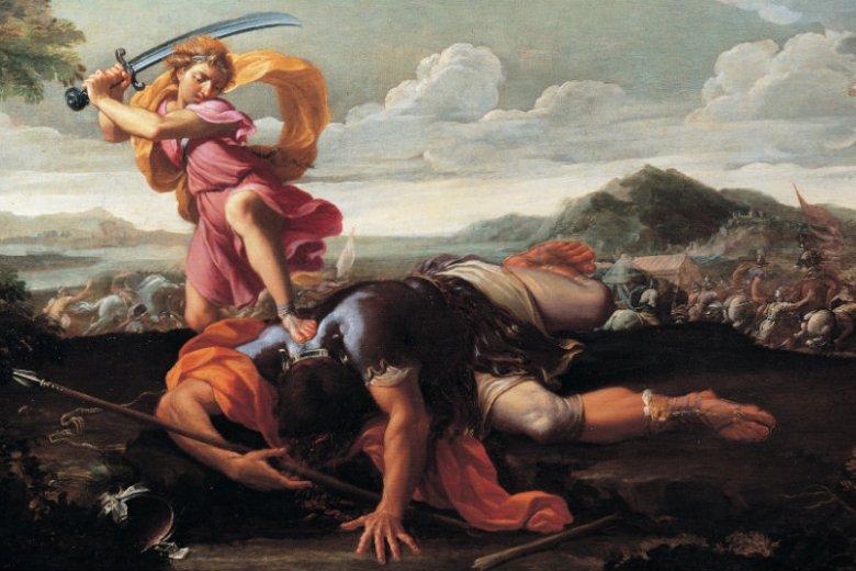 Dawid pokonał Goliata wykorzystując taktykę.