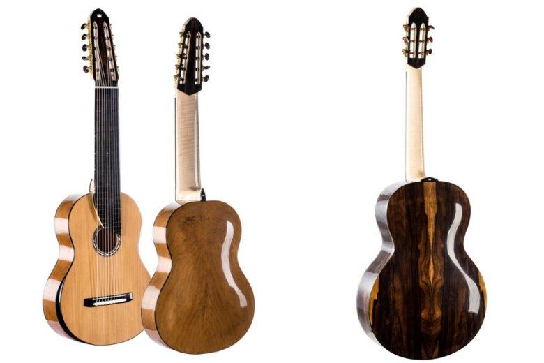 Gitary stworzone przez wielkopolskiego lutnika. Po lewej The Queen of Guitars.