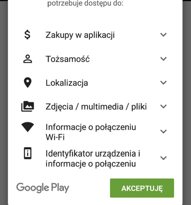 Informacje o połączeniu