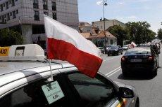 Ubiegłoroczny protest taksówkarzy przeciwko działalności Ubera w Polsce.