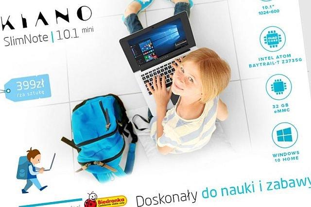 Już za kilka dni w Biedronce wystaruje sprzedaż laptopa Kiano za jedyne 399 złotych