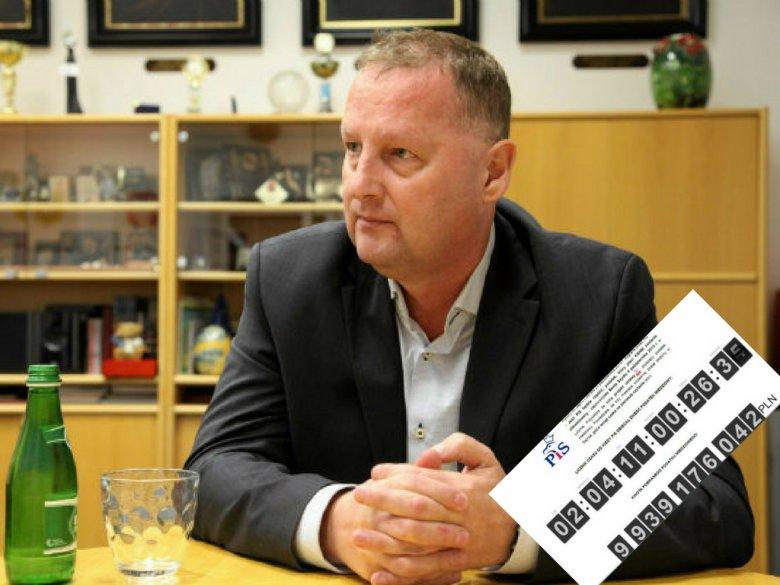 Robert Raczyński zawiesił koło siedziby KGHM ogromny licznik, z którego wynika, że za kilka dni kwota pieniędzy wpłaconych przez spółkę do skarbu państwa sięgnie 10 mld zł.