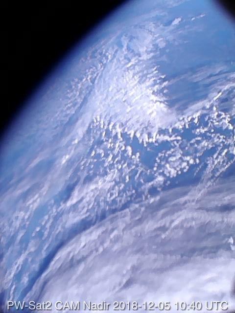 Pierwsze polskie satelitarne zdjęcie.