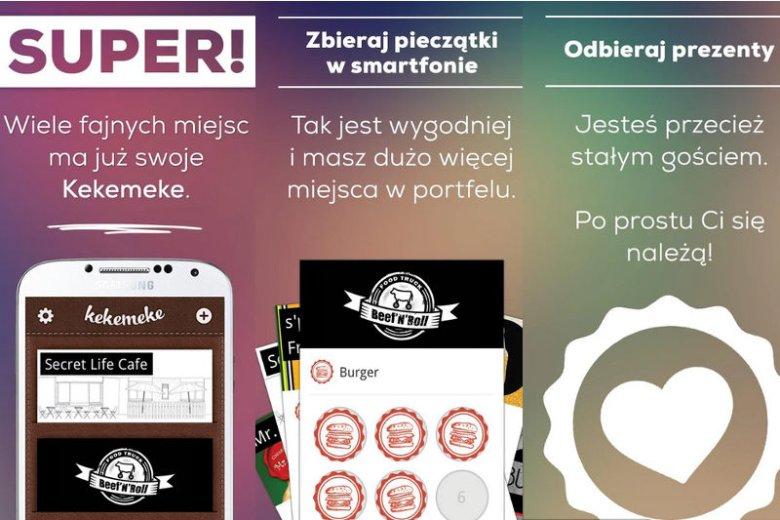 Kekemeke to w uproszczeniu mobilna karta lojalnościowa.