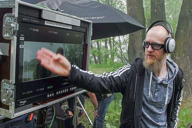 Tomek Bagiński na planie