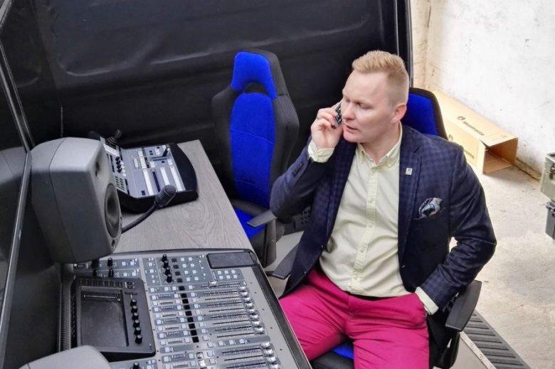 Krzysztof Mnich - właściciel wozu telewizyjnego ULTRA HD