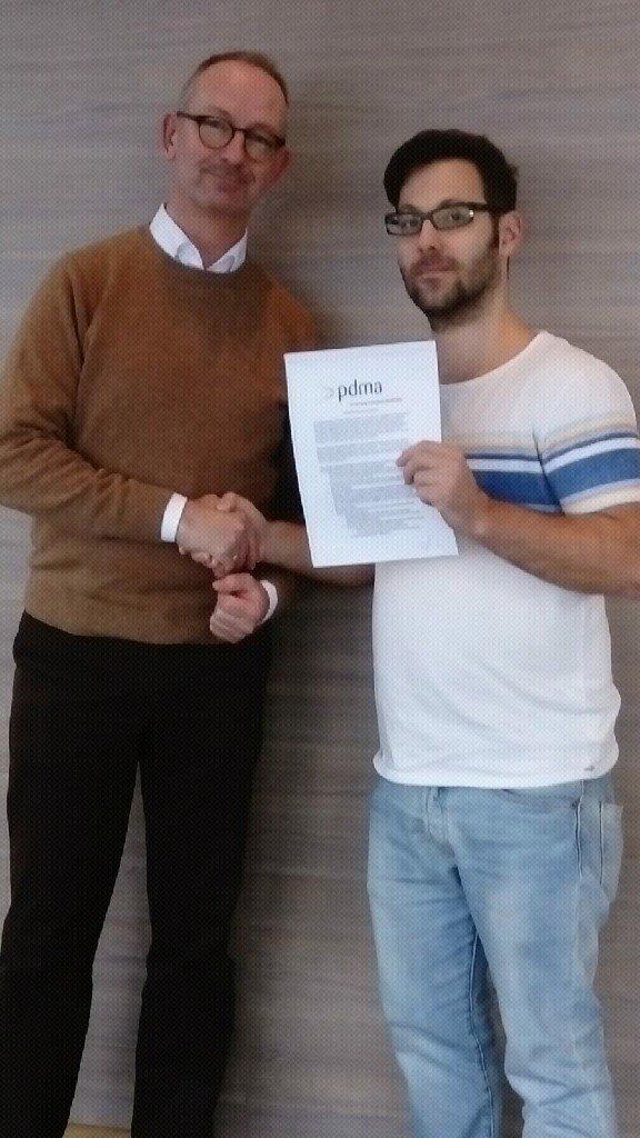 Egbert-Jan van Dijck, VP - PDMA Europe i ja