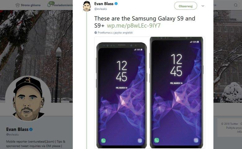 Nowy Samsung Galaxy S9 i S9+. Zdjęcia wyciekły na miesiąc przed premierą.