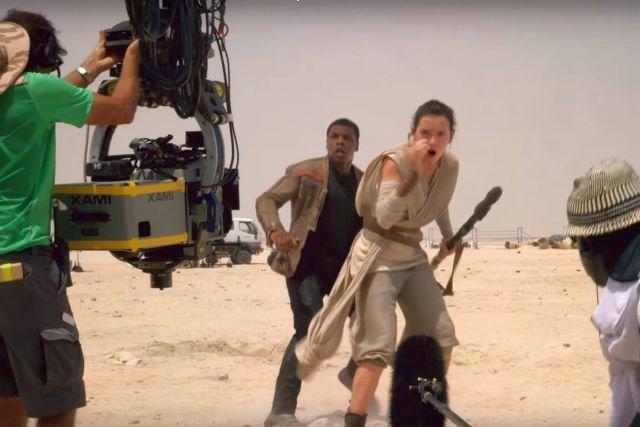 """Wysięgnik MovieBird na planie filmu """"Gwiezdne Wojny: Przebudzenie mocy"""""""