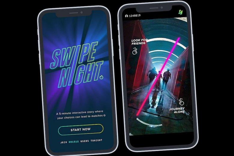 Tinder wypuszcza nową interaktywną grę filmową o nazwie Swipe Night, która pokaże randkowiczom potencjalne dopasowania - czyli osoby, które najprawdopodobniej będą chcieli mieć przy sobie w przypadku apokalipsy.