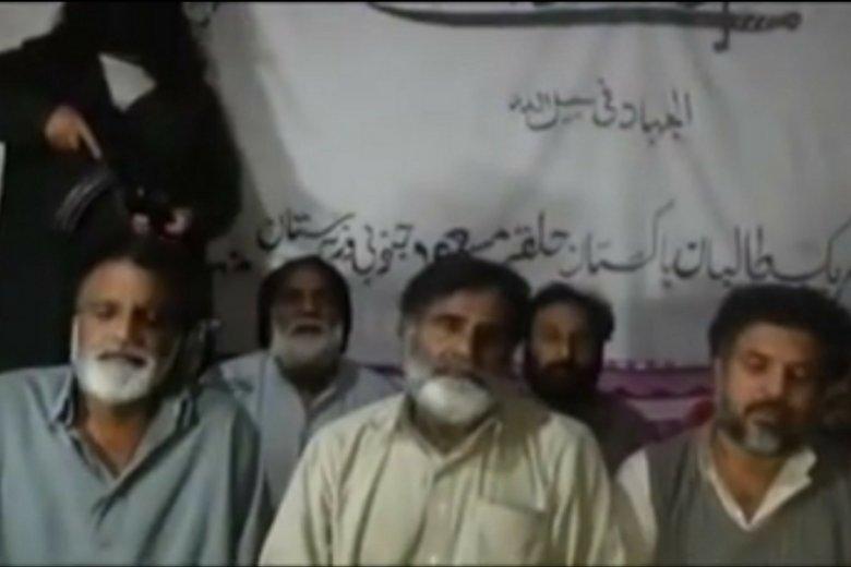 Kadr z video opublikowanego przez talibów.