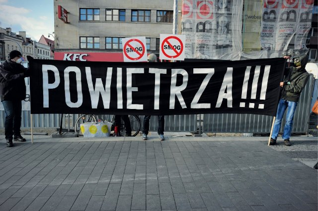 Protest Polskiego Alarmu Smogowego we Wrocławiu
