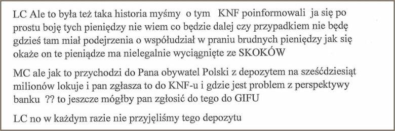 Czarnecki opowiadał o tym, jak nie przyjął pieniędzy od Biereckiego