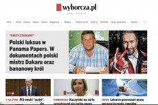 Screen z Gazety Wyborczej - artykuł o najbogatszych Polakach