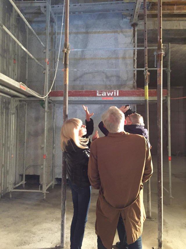 Grażyna Kulczyk podczas budowy szwajcarskiego muzeum w Susch.