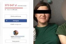Takim zdjęciem Agata K. opatrzyła swoją zbiórkę na portalu Pomagam.pl