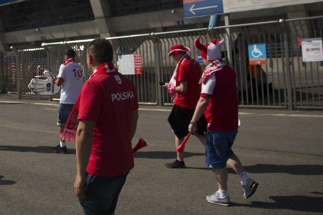 Polscy kibice przed meczem reprezentacji