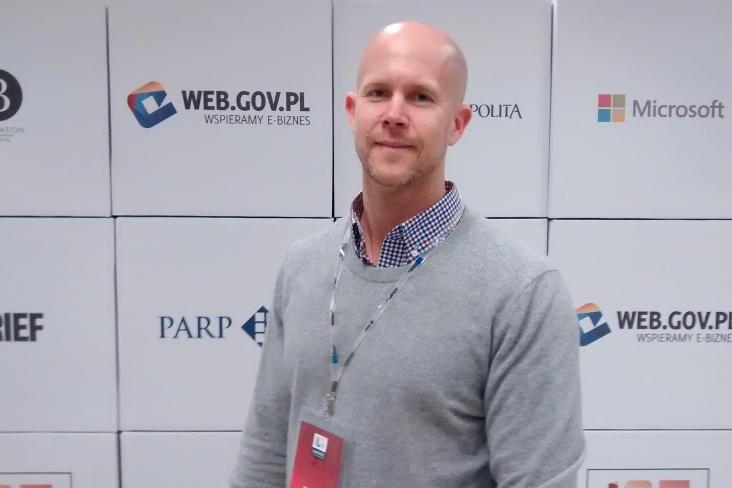 Tyler Crowley opowiadał na ICT Summit, jak tworzyć lokalny ekosystem dla start-upów.