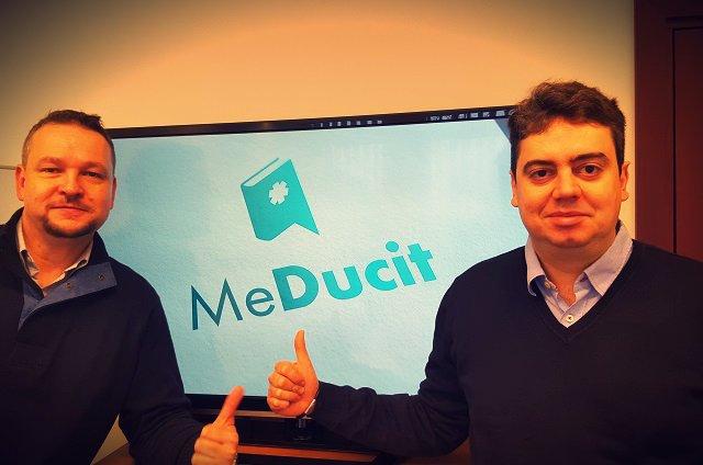 Mariusz Chrapiński (po prawej), założyciel Meducit z partnerem biznesowym Olafem Musiałowskim, odpowiedzialnego za promocję portalu.
