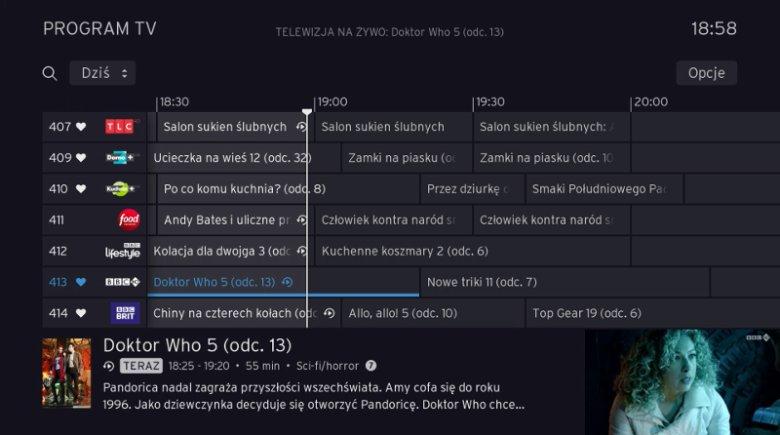 Usługa Replay TV, dostępna w ofercie UPC Polska, pozwala oglądać programy na wybranych kanałach do 7 dni wstecz