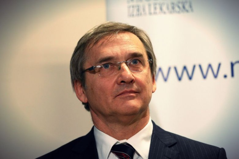 Dr Maciej Hamankiewicz, prezes Naczelnej Izby Lekarskiej.