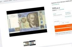 Kolekcjonerski pieniądz okazał się nie lada gratką dla amatorów papierów wartościowych, którzy chcą za banknot nawet 600 zł.