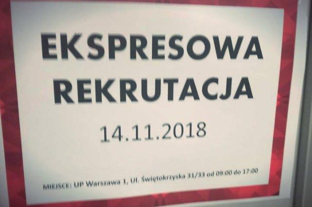 Ekspresowa rekrutacja – plakat o takiej zagadkowej treści pojawił się na drzwiach Urzędu Pocztowego