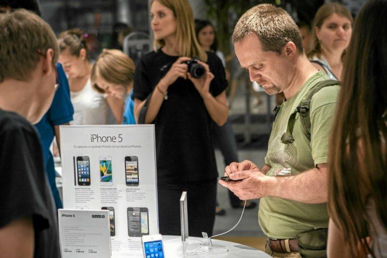 Salon z produktami Apple w Bydgoszczy.
