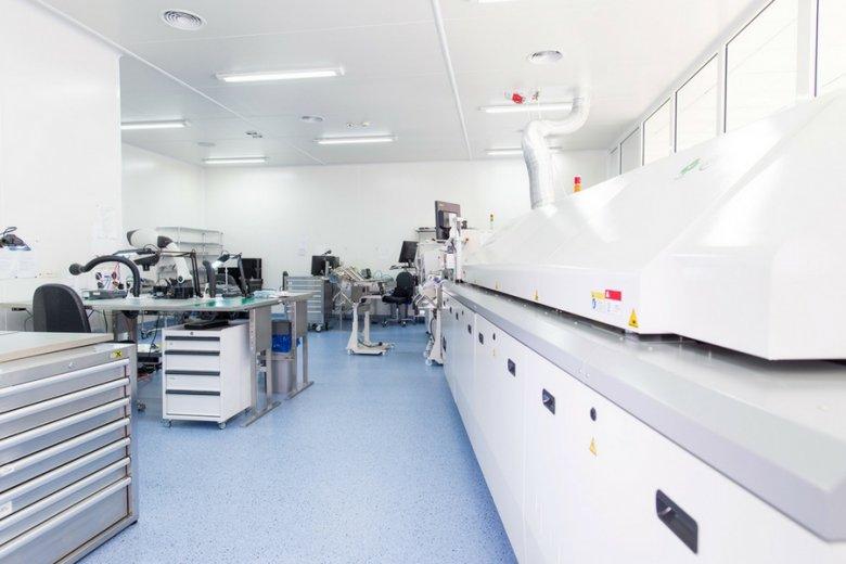 Cleanroom w siedzibie piaseczyńskiej firmy.