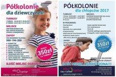 Program półkolonii dla dziewczynek i chłopców, które organizuje bydgoska firma Edu-Center, jak widać, diametralnie się różni.
